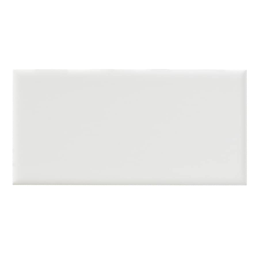 United States Ceramic Tile Color White Ceramic Wall Tile (Common: 3-in x 6-in; Actual: 6-in x 3-in)