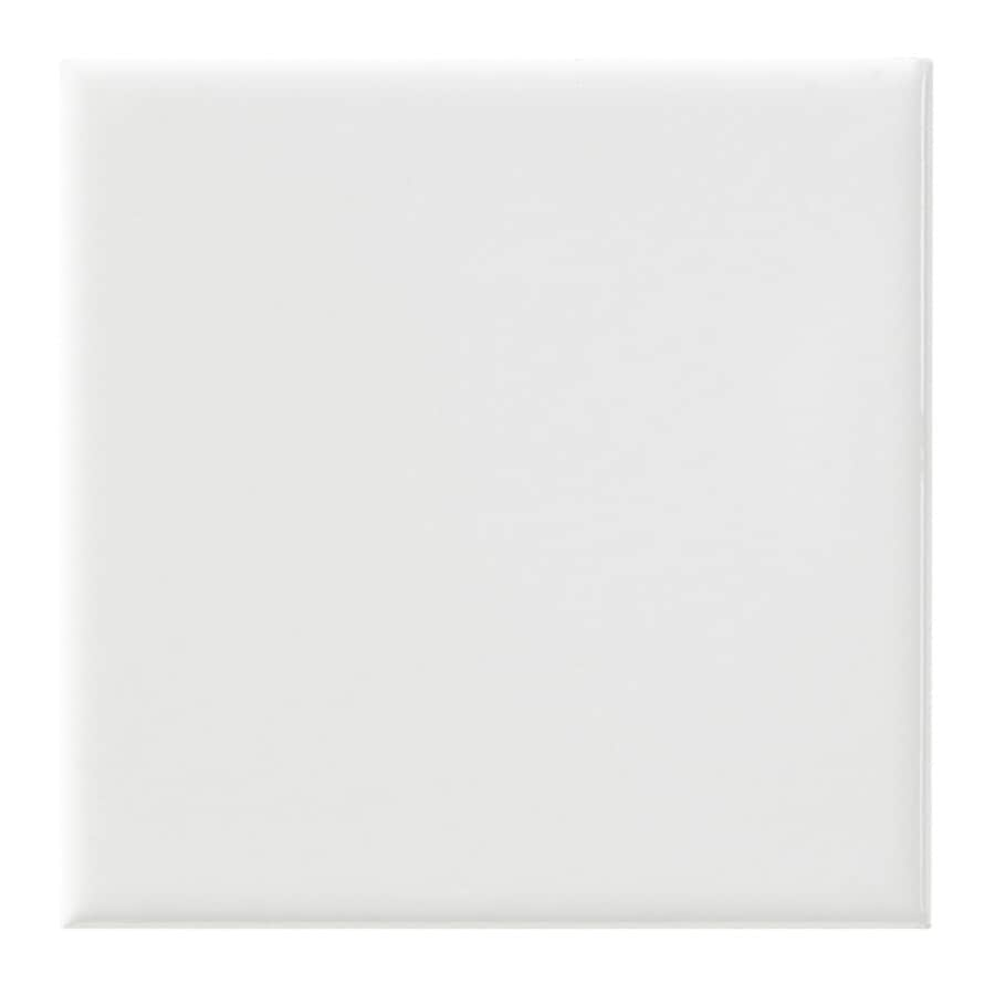 United States Ceramic Tile Color White Ceramic Wall Tile (Common: 4-in x 4-in; Actual: 4-in x 4-in)