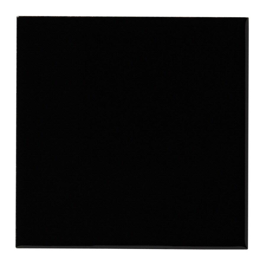 United States Ceramic Tile Color Black Ceramic Wall Tile (Common: 4-in x 4-in; Actual: 4-in x 4-in)