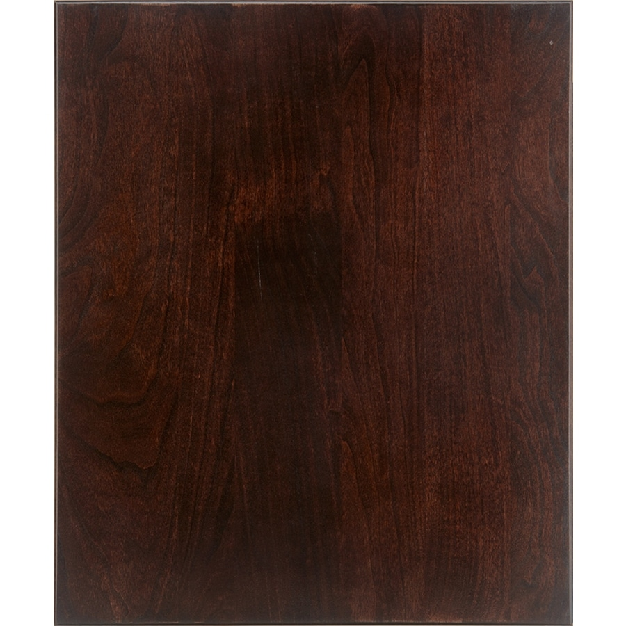 Schuler Cabinetry Capistrano 17.5-in x 14.5-in Espresso Cherry Slab Cabinet Sample