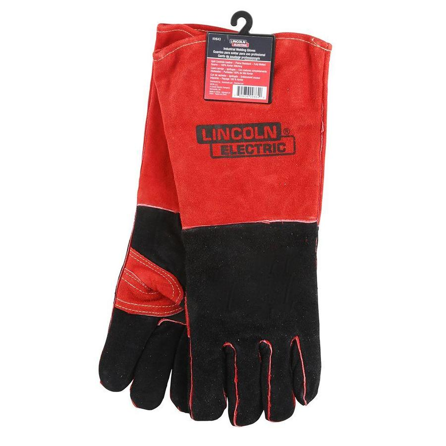 Lincoln Electric Red and Black Welding Gloves