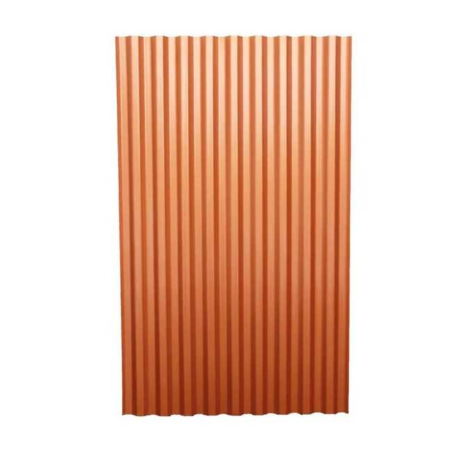 Tuftex Polydecor 2 17 Ft X 3 5 Ft Corrugated Brown Polycarbonate Plastic Roof Panel In The Roof Panels Department At Lowes Com
