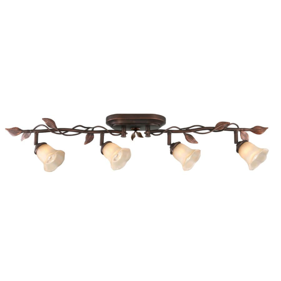 allen + roth Eastview 4-Light 36.2-in Oil-Rubbed Bronze Dimmable Flush-Mount Fixed Track Light Kit