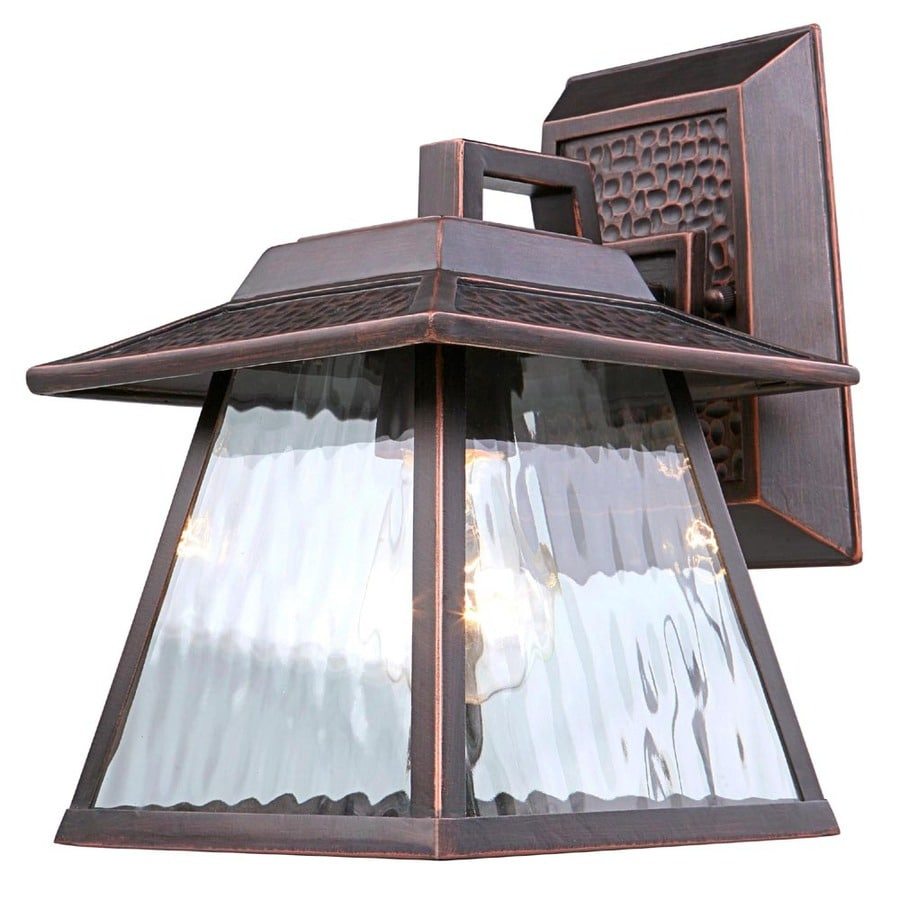 Portfolio 9.75-in H Dark Oil-Rubbed Bronze Outdoor Wall Light