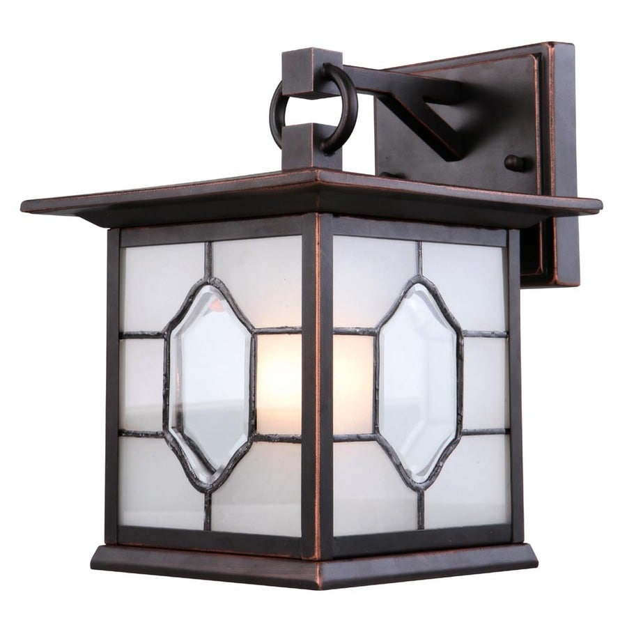 shop allen roth dark oil rubbed bronze outdoor wall light at lowes. Black Bedroom Furniture Sets. Home Design Ideas