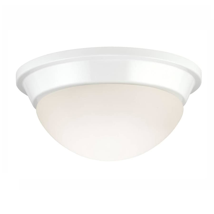 Project Source 8.75-in W White Ceiling Flush Mount Light