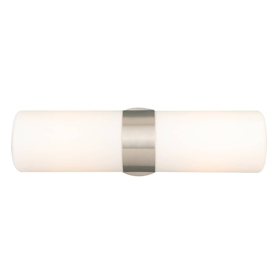 Style Selections 2-Light Brushed Nickel Cylinder Vanity Light