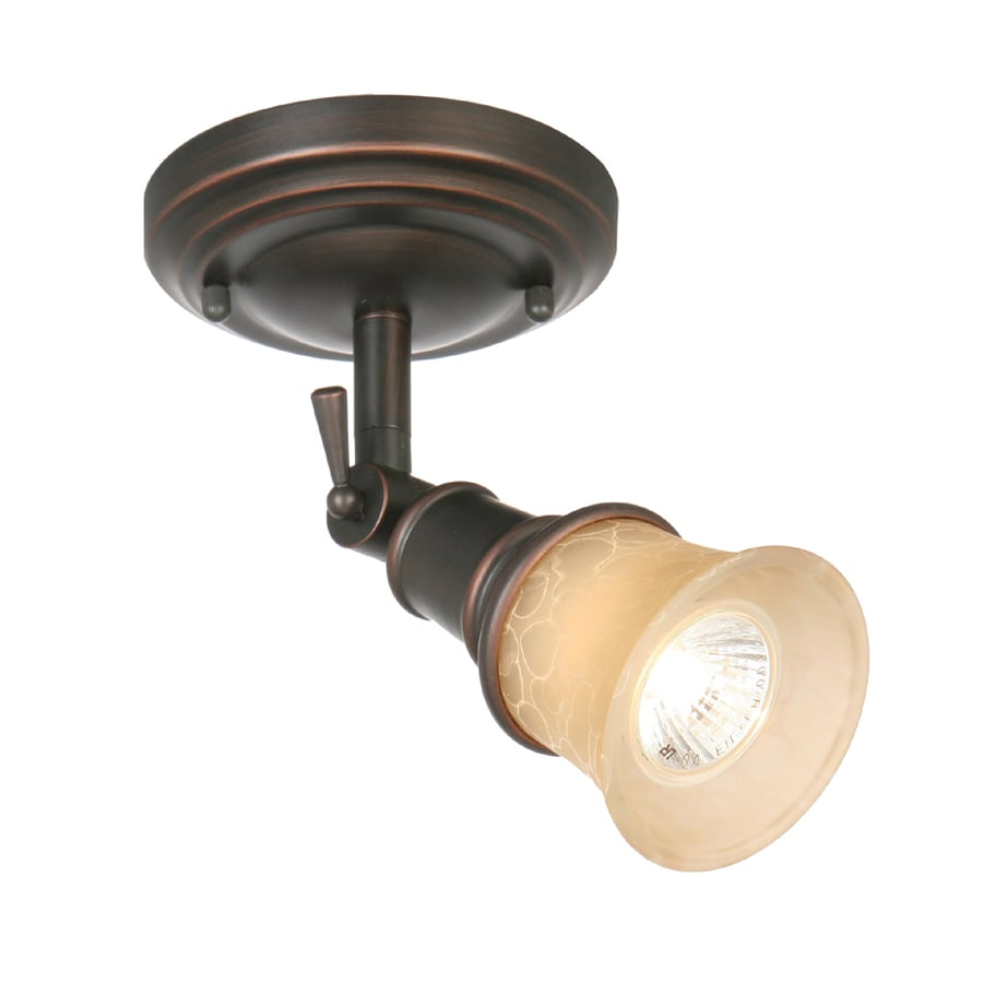 allen + roth 5.125-in Specialty Bronze Dimmable Flush-Mount Fixed Track Light Kit