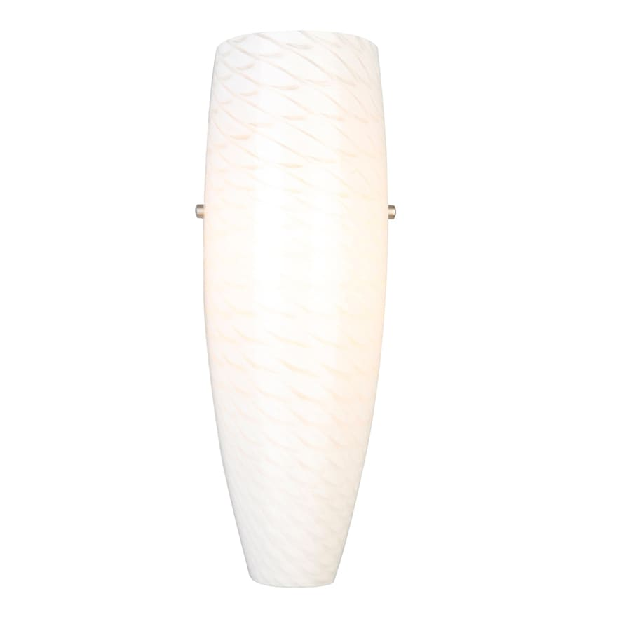 Shop Portfolio 5.5-in W 1-Light Brushed Nickel Pocket Hardwired Wall Sconce at Lowes.com