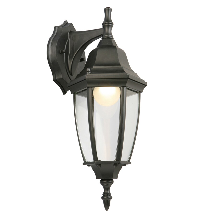 Dark Sky Wall Lights : Shop Portfolio 17.5-in H LED Black Dark Sky Outdoor Wall Light ENERGY STAR at Lowes.com