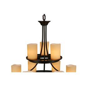 shop allen roth harpwell 9 light oil rubbed bronze chandelie