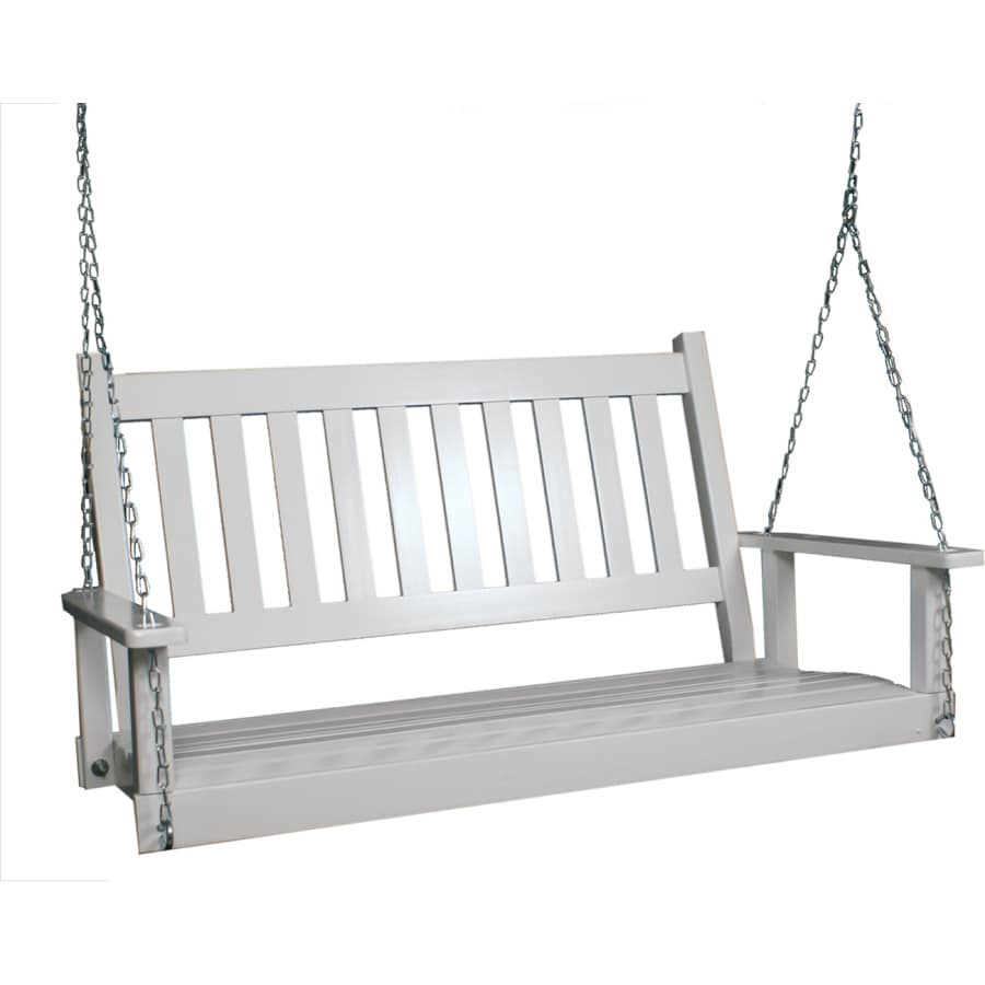Garden Treasures 2-Seat Wood Traditional White Swing