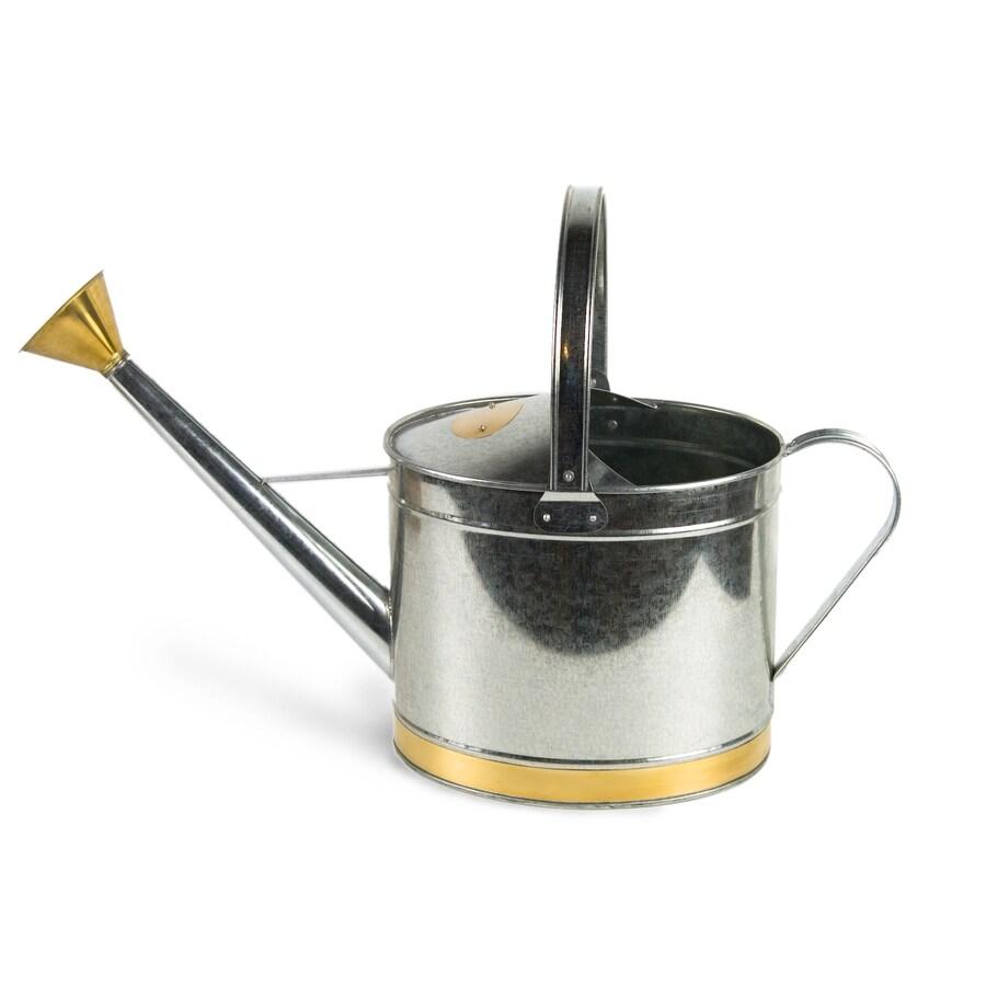 Plastec 2-Gallon Silver Metal Watering Can