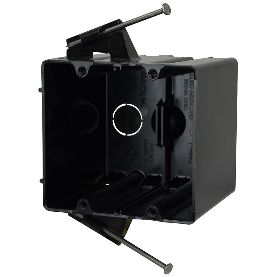 Allied Moulded 43.5 cu in 2-Gang Plastic Adjustable Wall Electrical Box