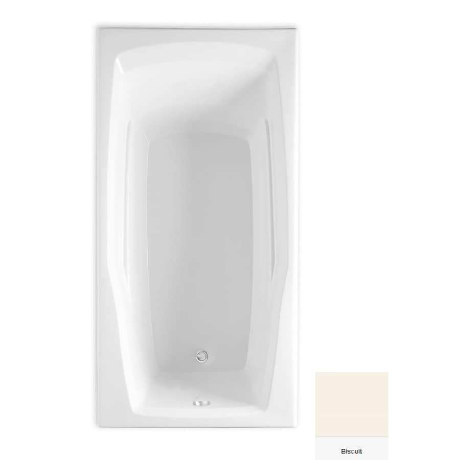 Laurel Mountain Reston Biscuit Acrylic Rectangular Drop-in Bathtub with Reversible Drain (Common: 30-in x 60-in; Actual: 20.5-in x 30-in x 60-in