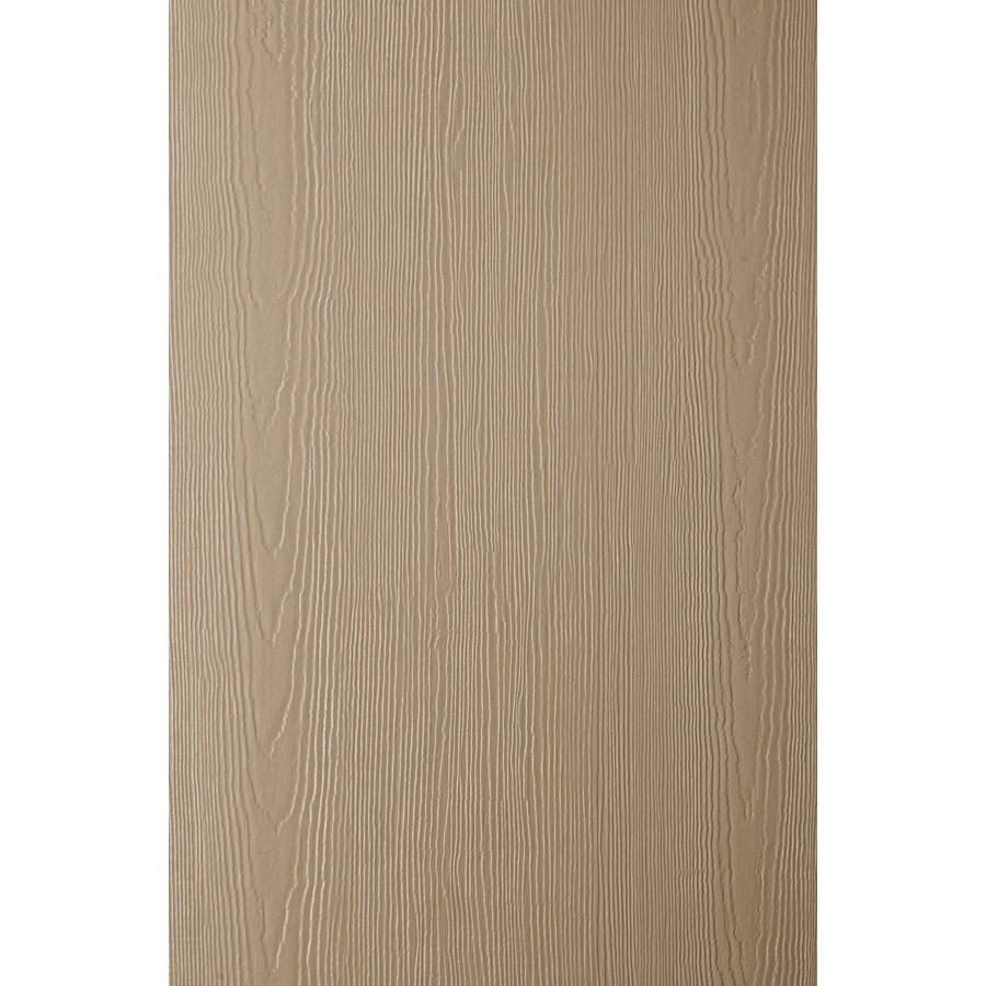 James Hardie HardiePanel Primed Khaki Brown Cedarmill Vertical Fiber Cement Siding Panel (Actual: 0.312-in x 48-in x 120-in)