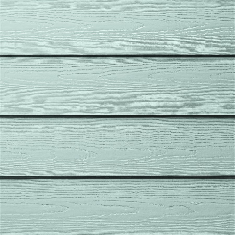 James Hardie HardiePlank Primed Aqua Marine Cedarmill Lap Fiber Cement Siding Panel (Actual: 0.312-in x 8.25-in x 144-in)