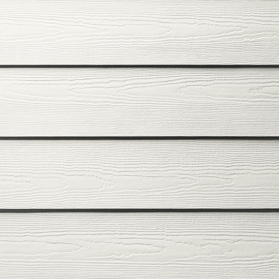 James Hardie HardiePlank Primed Arctic White Cedarmill Lap Fiber Cement Siding Panel (Actual: 0.312-in x 5.25-in x 144-in)