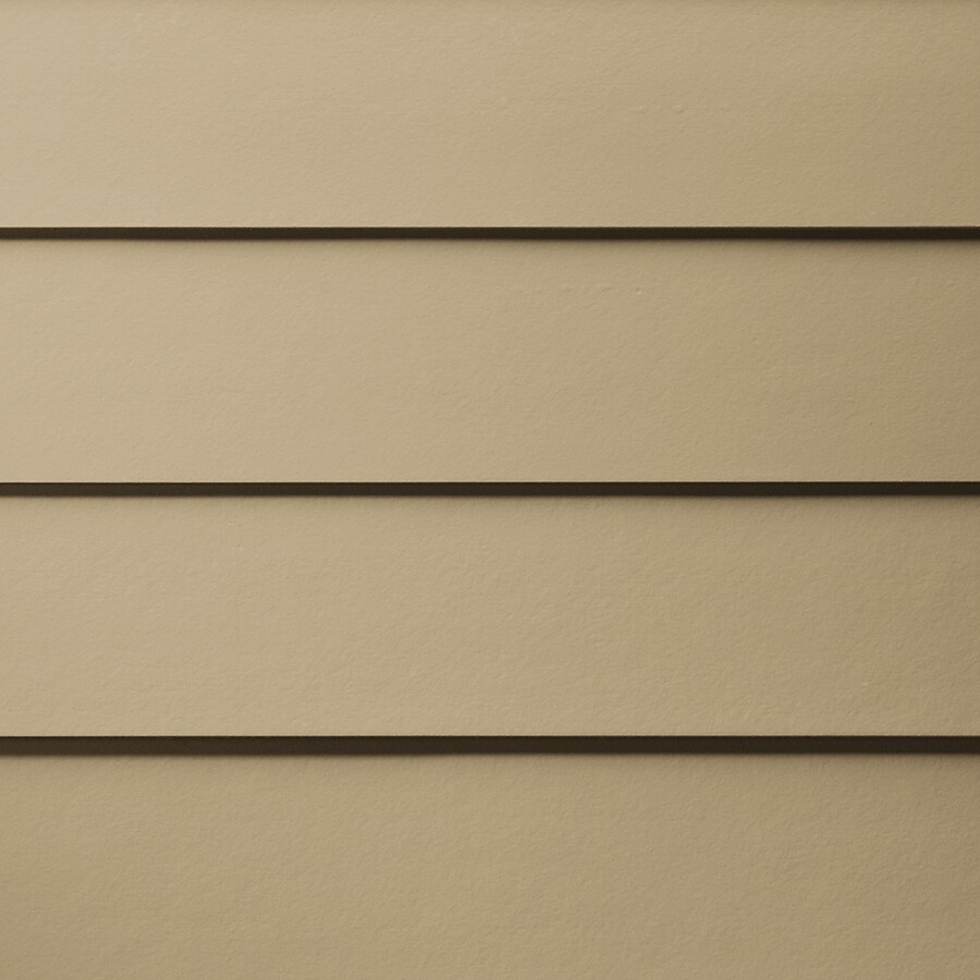 James Hardie HardiePlank Primed Autumn Tan Smooth Lap Fiber Cement Siding Panel (Actual: 0.312-in x 6.25-in x 144-in)