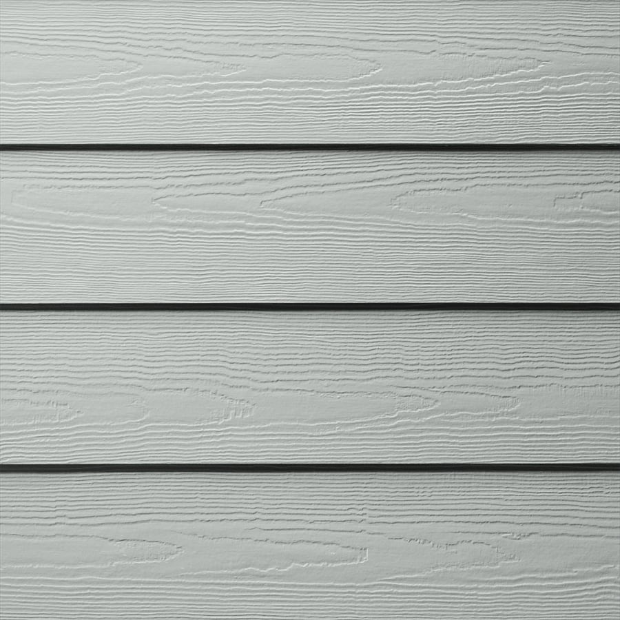 James Hardie HardiePlank Primed Light Mist Cedarmill Lap Fiber Cement Siding Panel (Actual: 0.312-in x 5.25-in x 144-in)