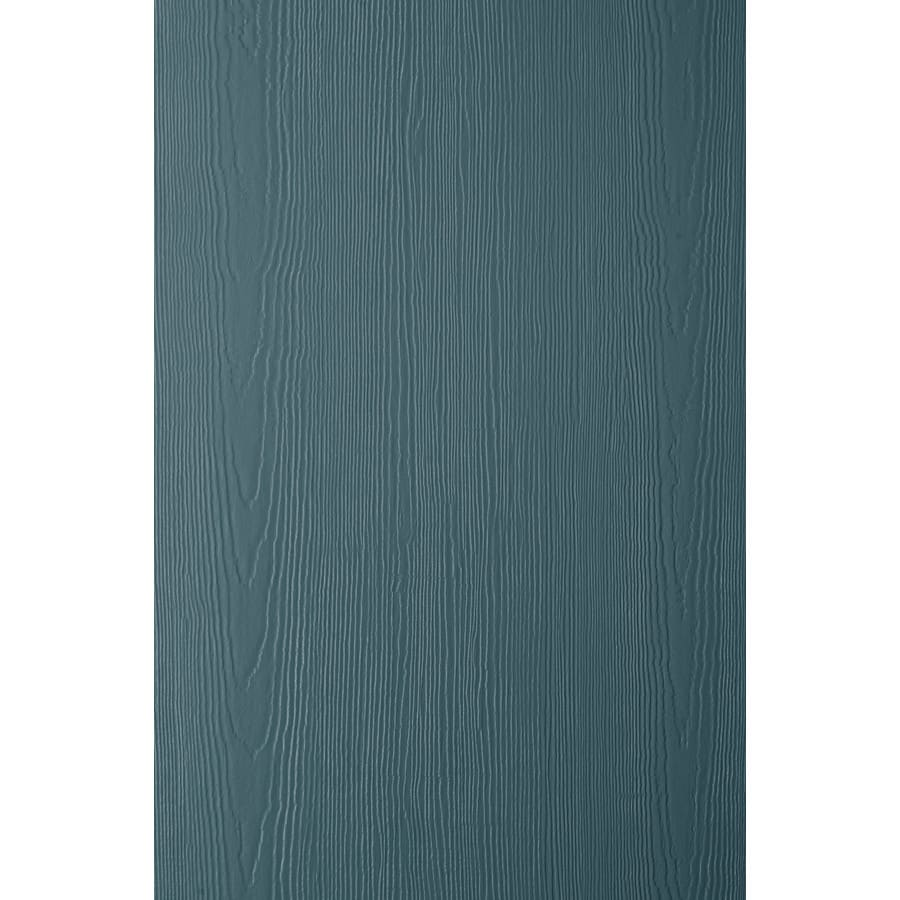 James Hardie HardiePanel Primed Evening Blue Cedarmill Vertical Fiber Cement Siding Panel (Actual: 0.312-in x 48-in x 120-in)