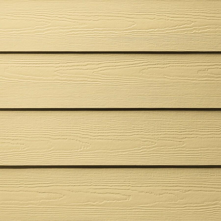 James Hardie HardiePlank Primed Harris Cream Cedarmill Lap Fiber Cement Siding Panel (Actual: 0.312-in x 5.25-in x 144-in)