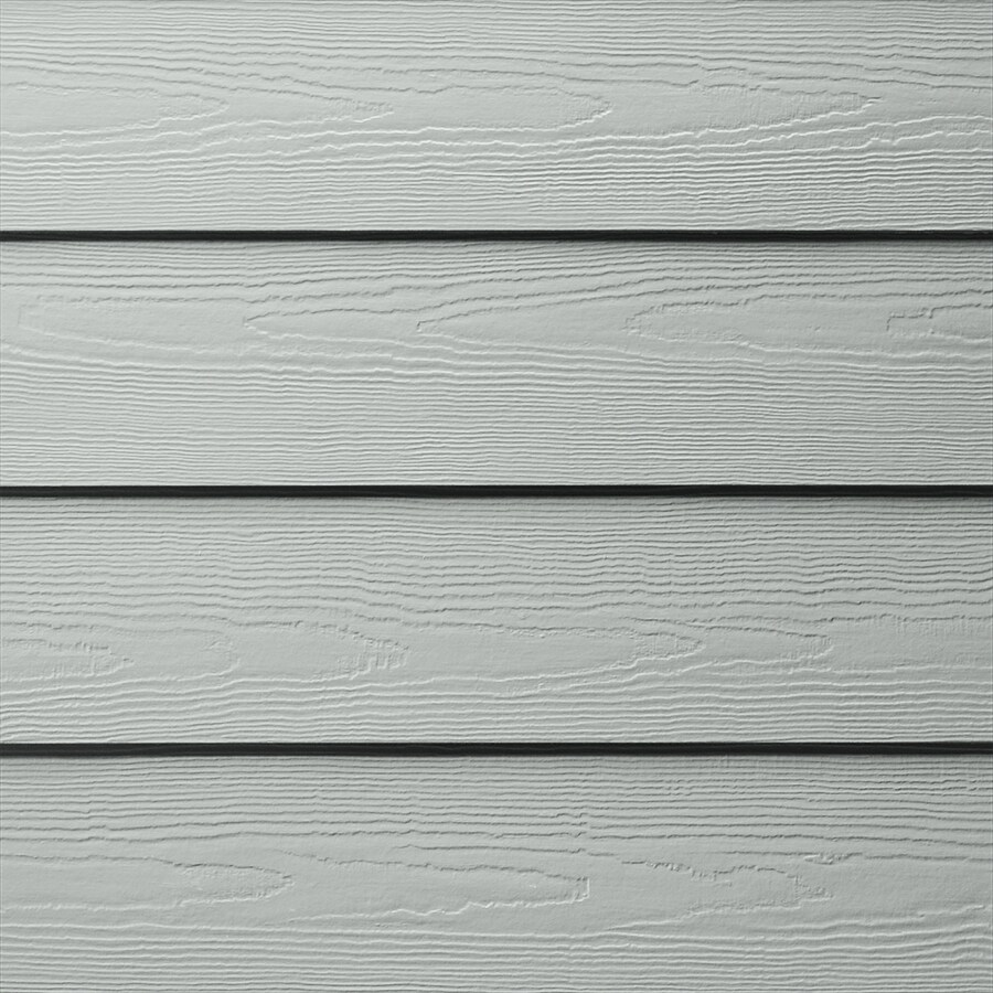 James Hardie HardiePlank Primed Light Mist Cedarmill Lap Fiber Cement Siding Panel (Actual: 0.312-in x 6.25-in x 144-in)
