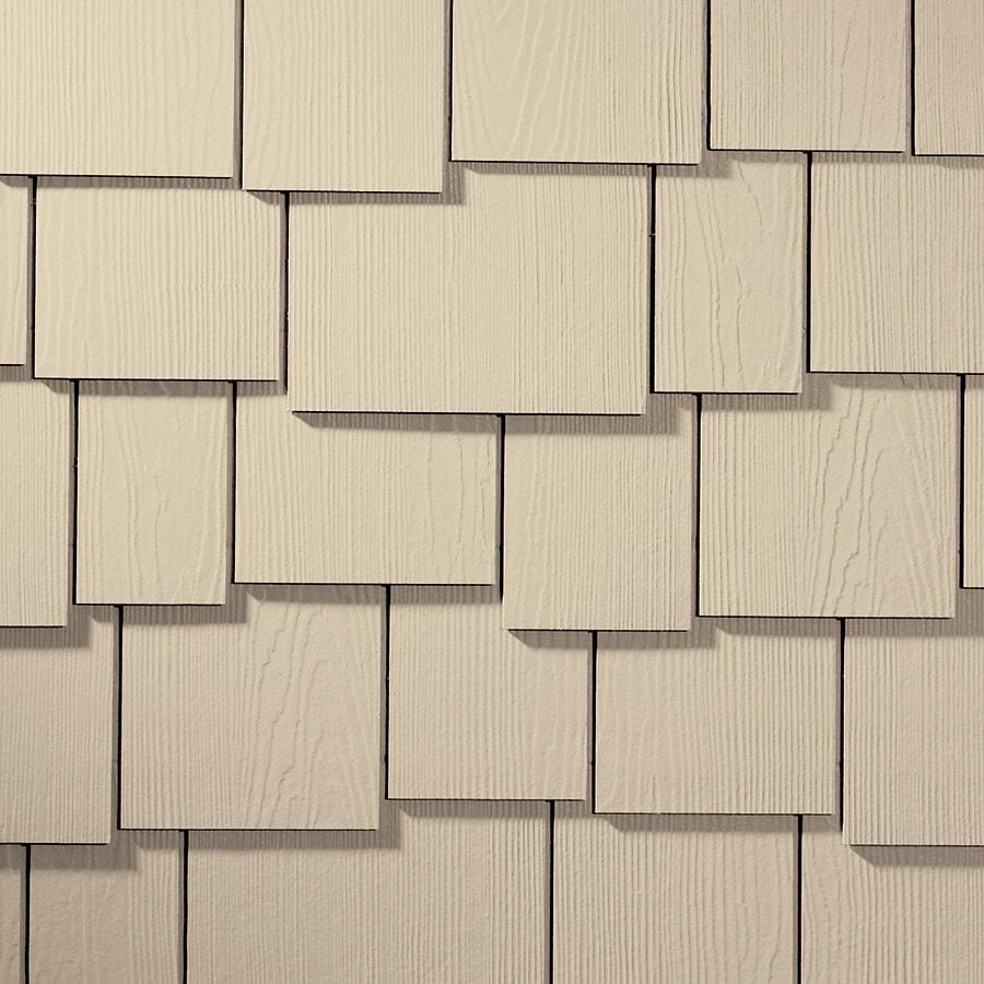 James Hardie Hardieshingle 15.25-in x 48-in Primed Sail Cloth Woodgrain Fiber Cement Shingle Siding