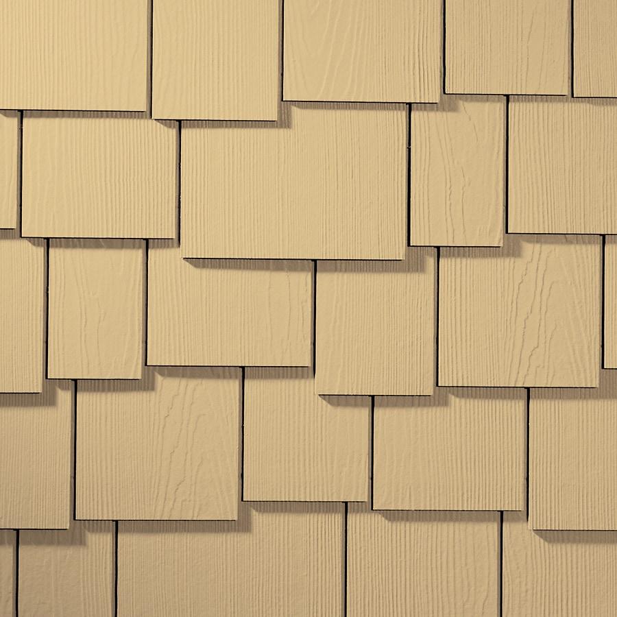 James Hardie HardieShingle 15.25-in x 48-in Primed Harris Cream Woodgrain Fiber Cement Shingle Siding