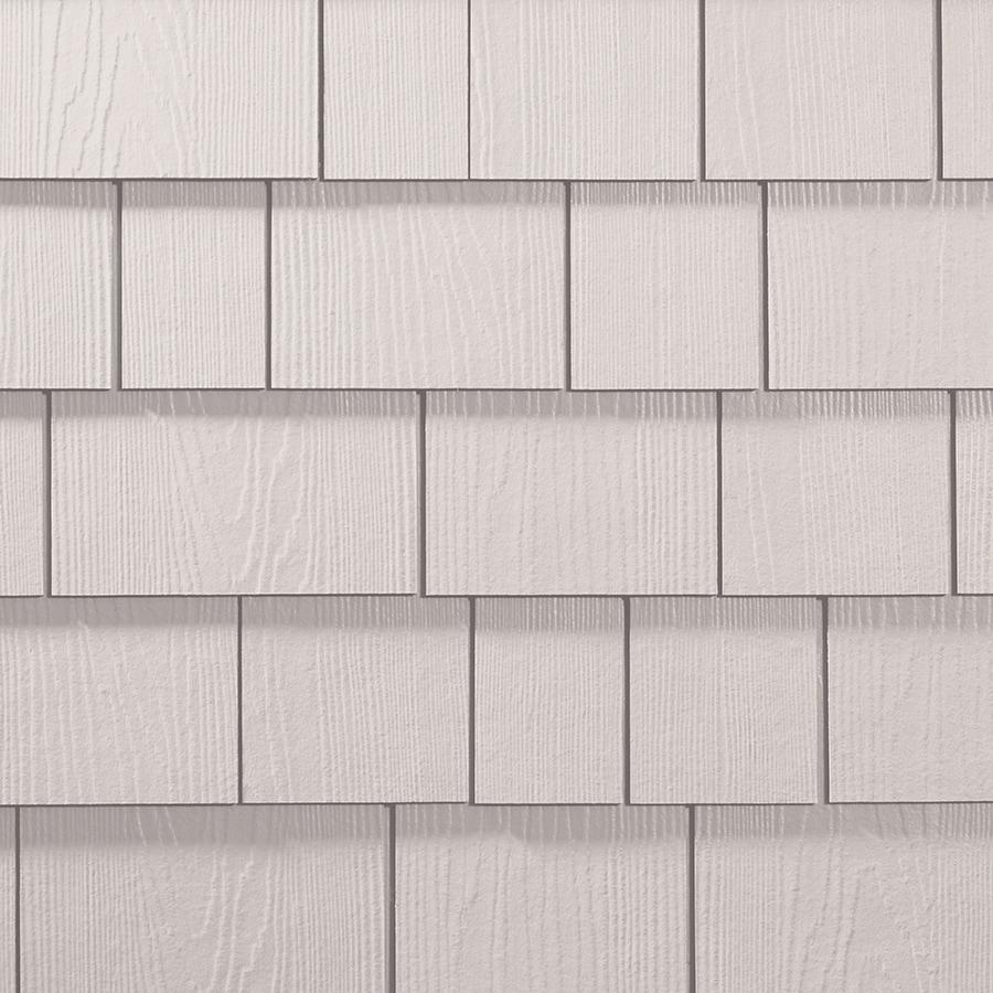 James Hardie HardieShingle 15.25-in x 48-in Primed Arctic White Woodgrain Fiber Cement Shingle Siding