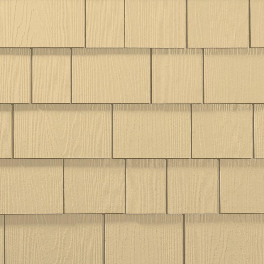 James Hardie Hardieshingle 15.25-in x 48-in Primed Woodland Cream Woodgrain Fiber Cement Shingle Siding