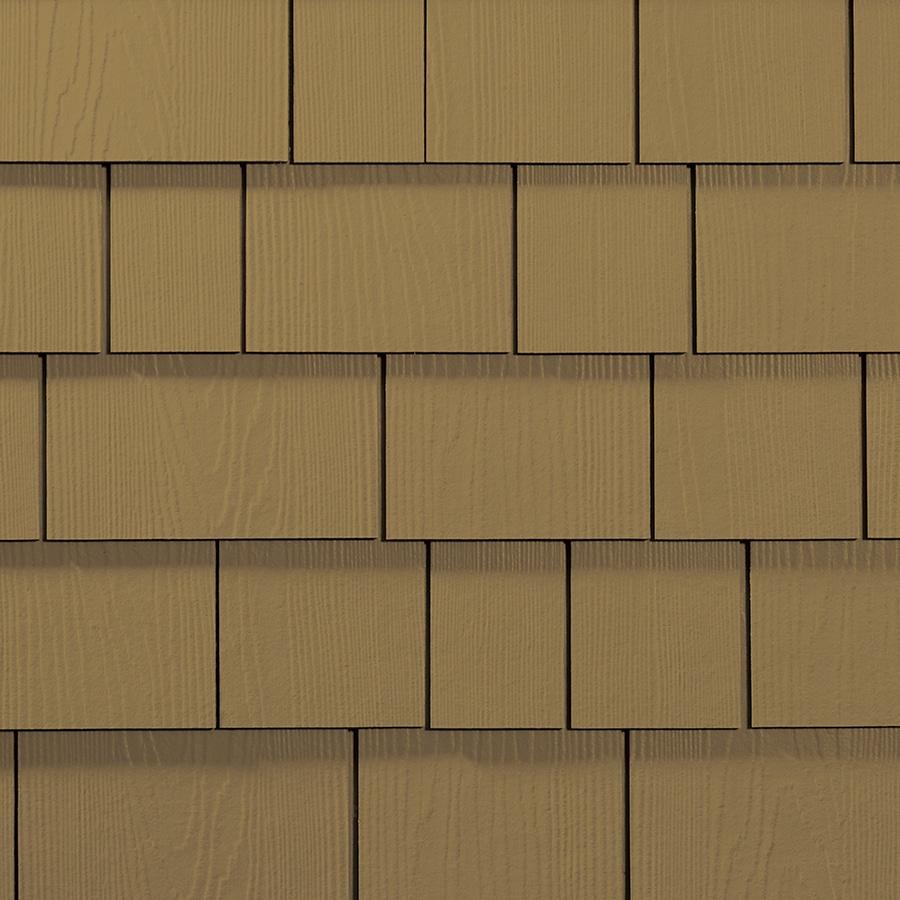 James Hardie Hardieshingle 15.25-in x 48-in Primed Tuscan Gold Woodgrain Fiber Cement Shingle Siding