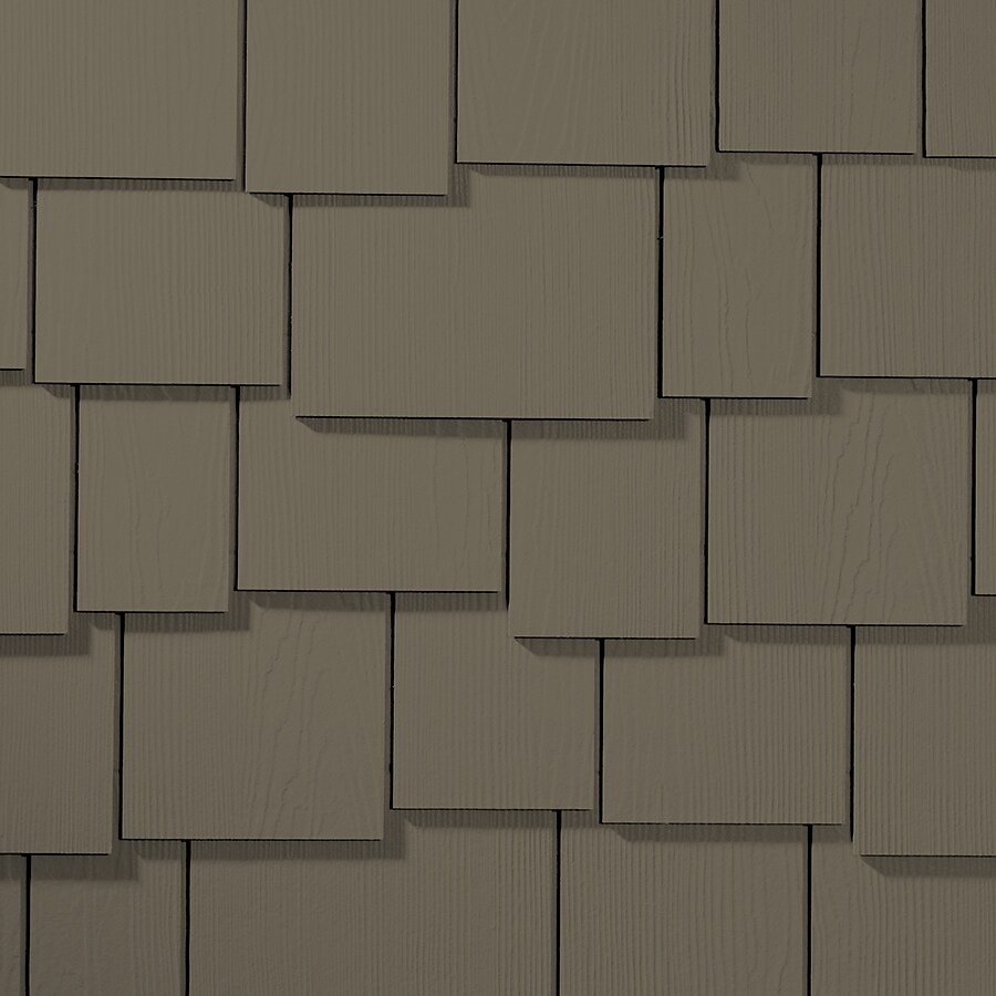 James Hardie HardieShingle 15.25-in x 48-in Primed Timber Bark Woodgrain Fiber Cement Shingle Siding