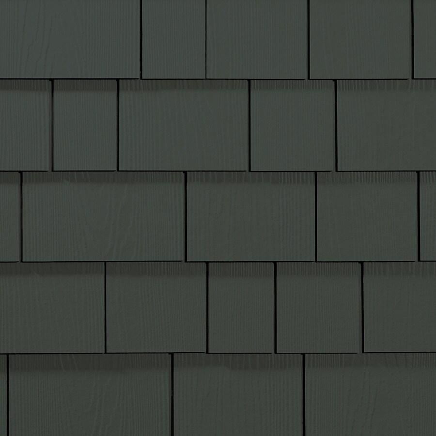 James Hardie HardieShingle 15.25-in x 48-in Primed Iron Gray Woodgrain Fiber Cement Shingle Siding