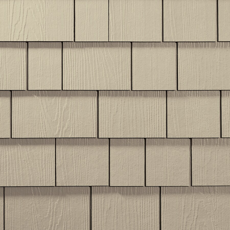 James Hardie Hardieshingle 15.25-in x 6.738-in Primed Navajo Beige Woodgrain Fiber Cement Shingle Siding