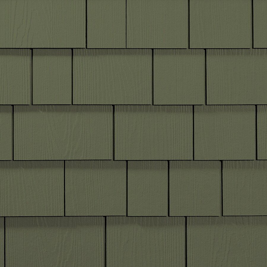 James Hardie Hardieshingle 15.25-in x 6.738-in Primed Mountain Sage Woodgrain Fiber Cement Shingle Siding
