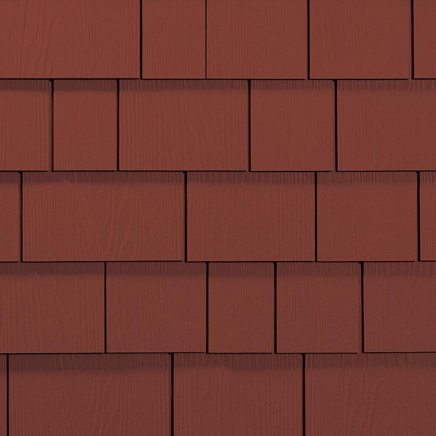 James Hardie Hardieshingle 15.25-in x 6.738-in Primed Traditional Red Woodgrain Fiber Cement Shingle Siding