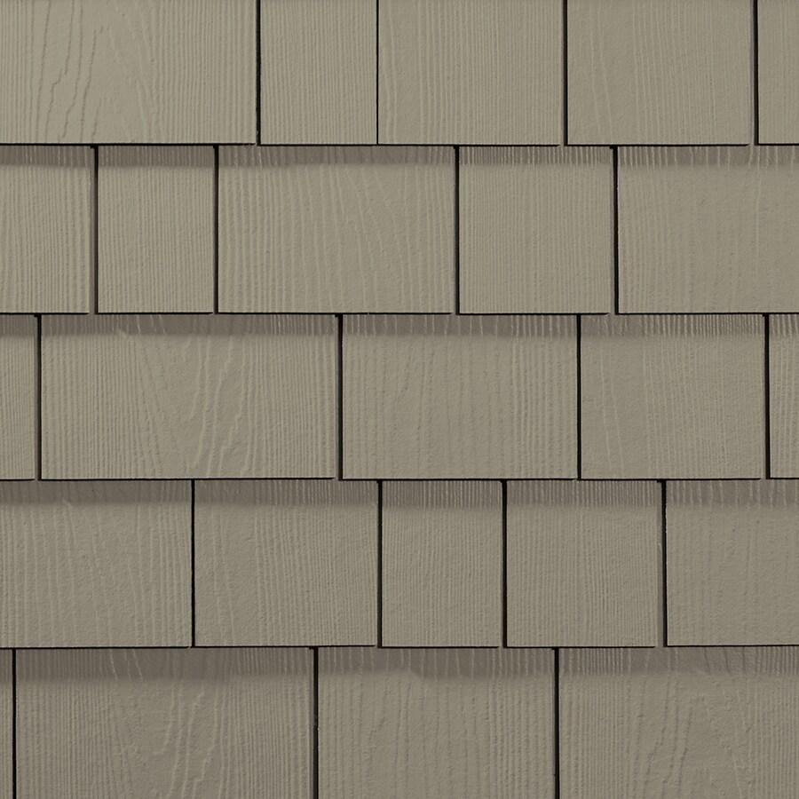 James Hardie Hardieshingle 15.25-in x 6.738-in Primed Monterey Taupe Woodgrain Fiber Cement Shingle Siding