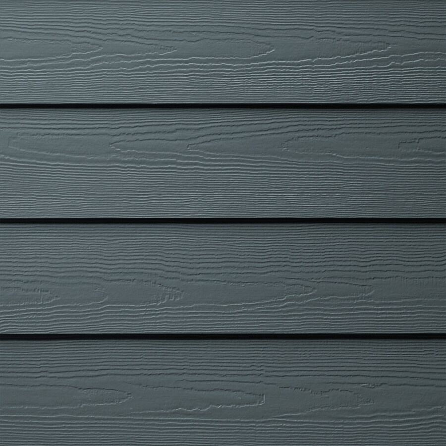 James Hardie HardiePlank Primed Evening Blue Cedarmill Lap Fiber Cement Siding Panel (Actual: 0.312-in x 5.25-in x 144-in)