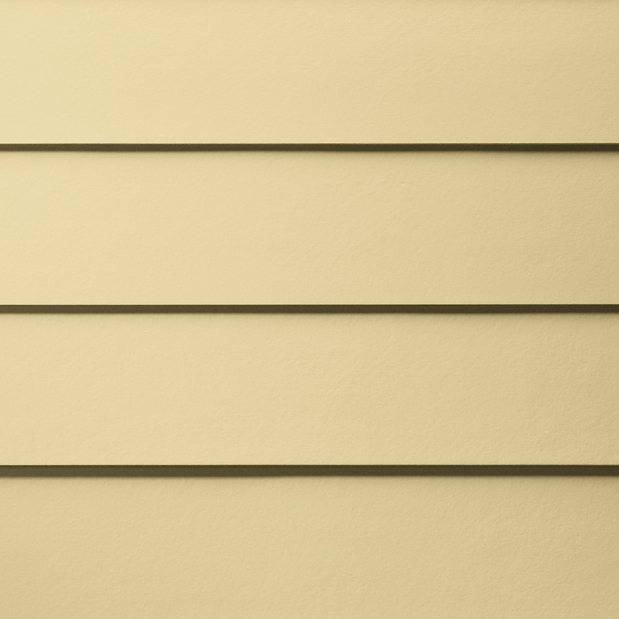 James Hardie HardiePlank Primed Woodland Cream Smooth Lap Fiber Cement Siding Panel (Actual: 0.312-in x 5.25-in x 144-in)