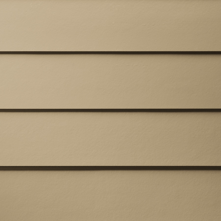 James Hardie HardiePlank Primed Autumn Tan Smooth Lap Fiber Cement Siding Panel (Actual: 0.312-in x 5.25-in x 144-in)
