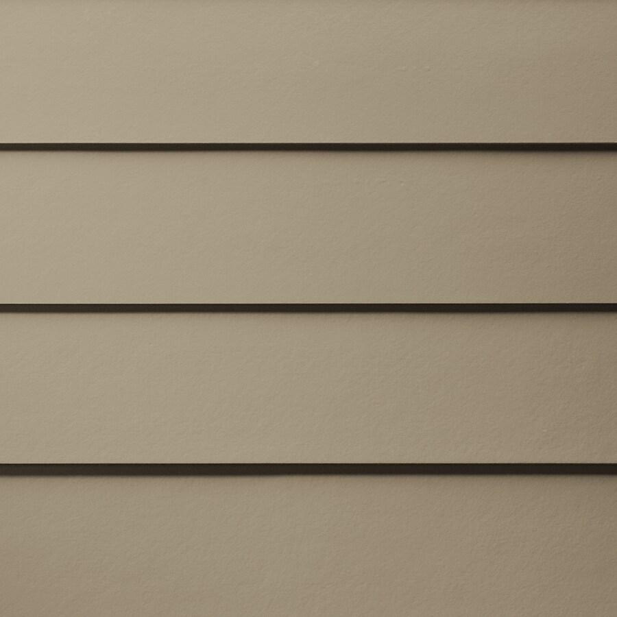 James Hardie Primed Khaki Brown Fiber Cement Siding Panel (Actual: 0.312-in x 5.25-in x 144-in)