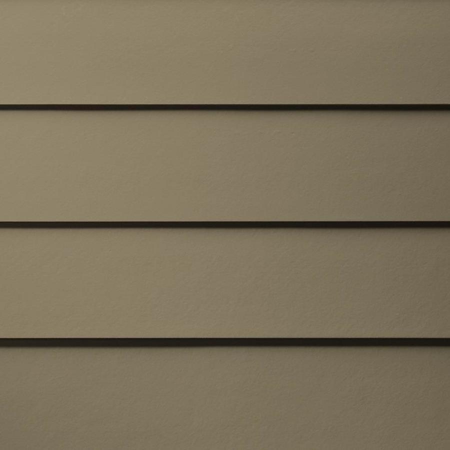 James Hardie HardiePlank Primed Woodstock Brown Smooth Lap Fiber Cement Siding Panel (Actual: 0.312-in x 5.25-in x 144-in)