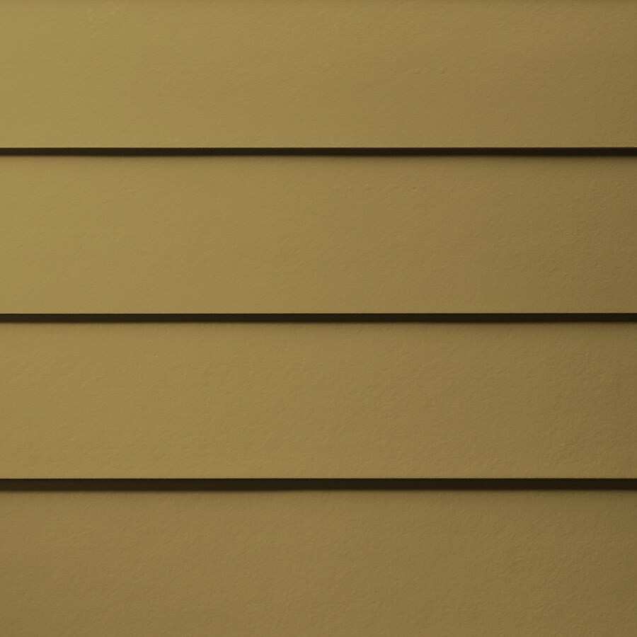 James Hardie Primed Tuscan Gold Fiber Cement Siding Panel (Actual: 0.312-in x 5.25-in x 144-in)