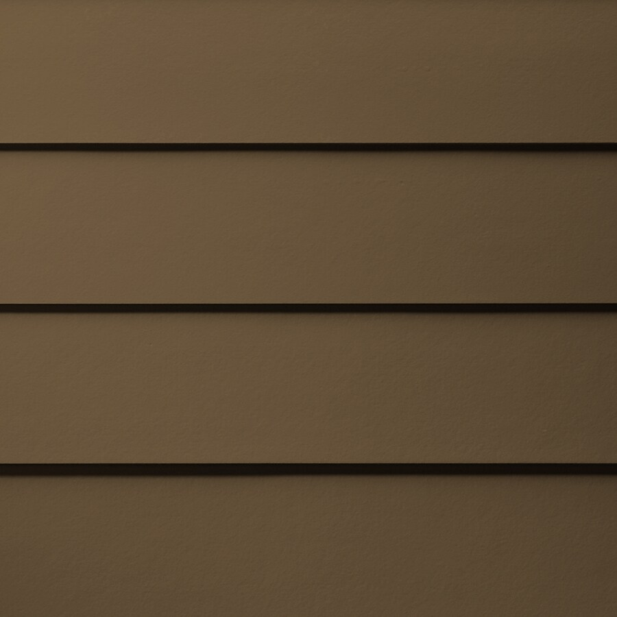 James Hardie Primed Chestnut Brown Fiber Cement Siding Panel (Actual: 0.312-in x 8.25-in x 144-in)