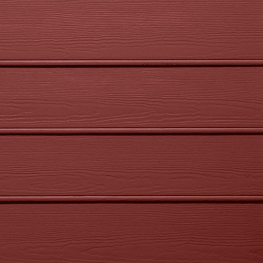 James Hardie HardiePlank Primed Countrylane Red Beaded Woodgrain Lap Fiber Cement Siding Panel (Actual: 0.312-in x 8.25-in x 144-in)