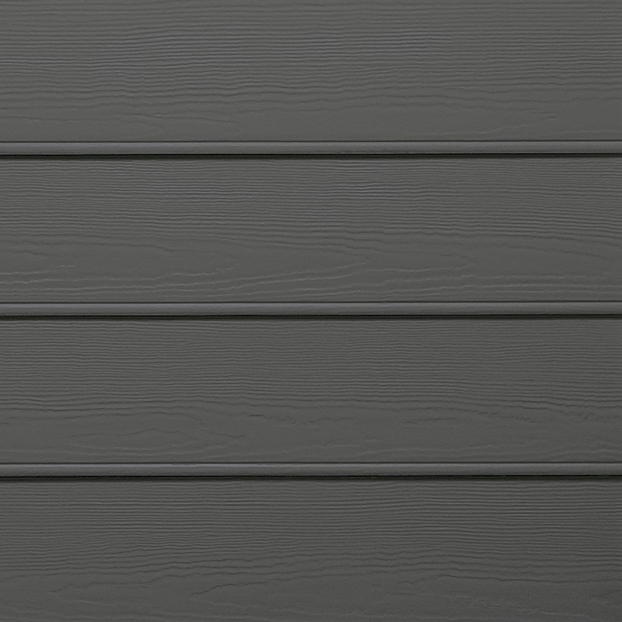 James Hardie Primed Iron Gray Fiber Cement Siding Panel (Actual: 0.312-in x 8.25-in x 144-in)