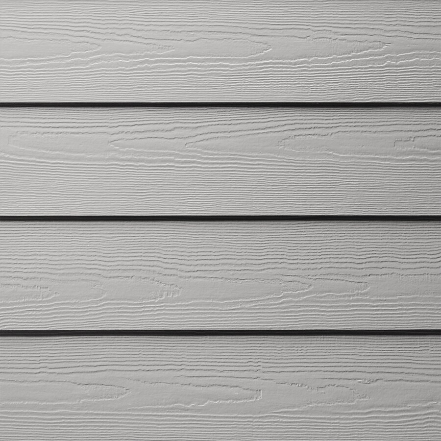 James Hardie HardiePlank Primed Pearl Gray Cedarmill Lap Fiber Cement Siding Panel (Actual: 0.312-in x 8.25-in x 144-in)