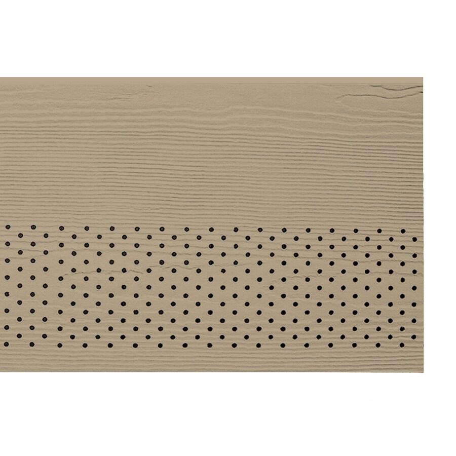 James Hardie 16-in x 144-in Primed Fiber Cement Vented Soffit