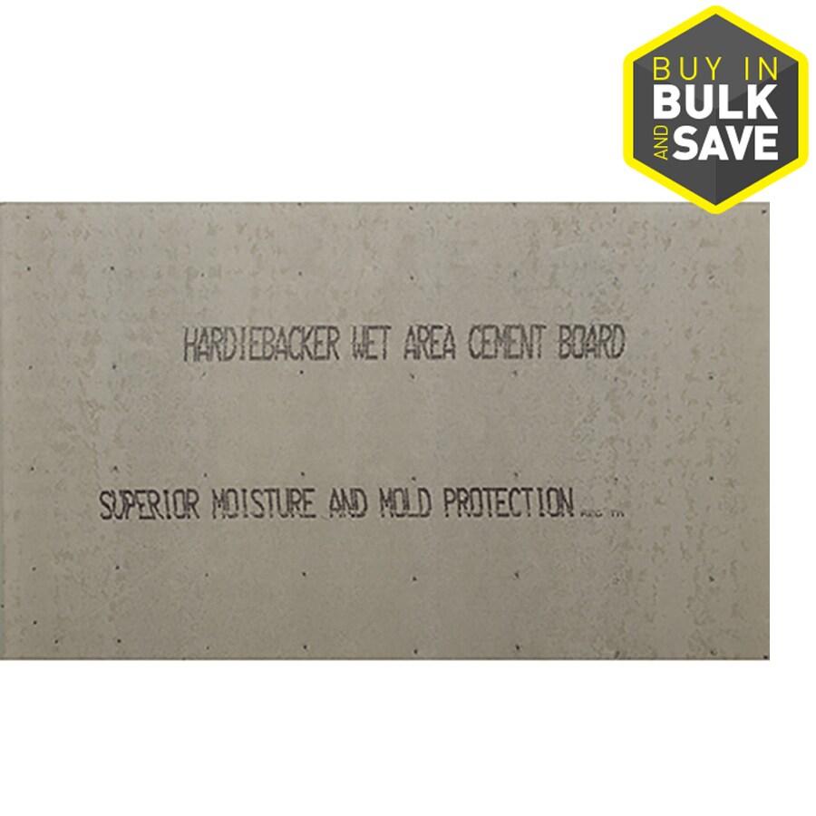 James Hardie HardieBacker 0.42-in x 48-in x 96-in Fiber Cement Backer Board